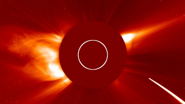 Captured on film: Comet crashes and burns as it passes the sun