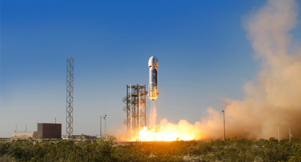 Space Race: Blue Origin re-launches the New Shepard rocket