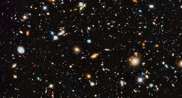 NASA's Hubble Space Telescope uncovers glowing cores of distant galaxies