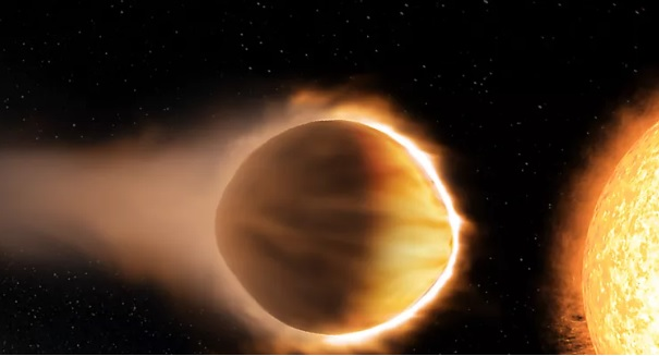 Giant exoplanet with glowing water atmosphere discovered